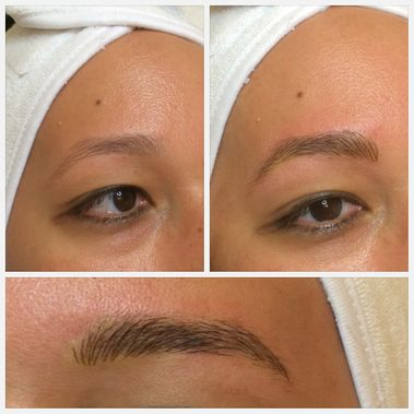 microbladed eyebrows before and after